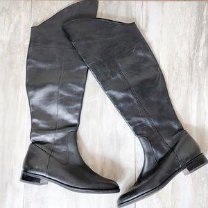 Via Spiga Black Over the Knee Boots